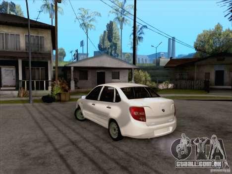 Estoque de LADA Grant para GTA San Andreas traseira esquerda vista