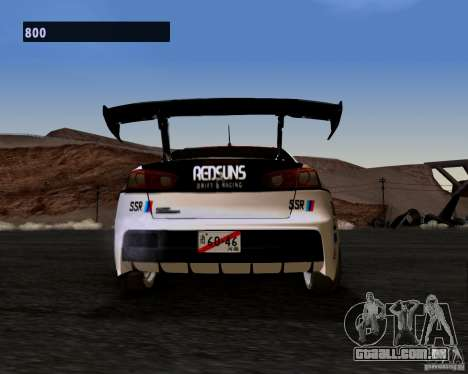 Mitsubishi Lancer Evo X 2008 para GTA San Andreas vista direita