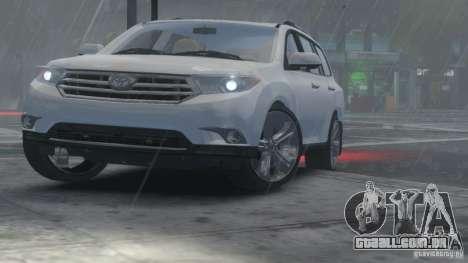 Toyota Highlander 2012 v2.0 para GTA 4 vista de volta