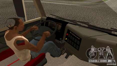 KAMAZ 5460 3420 Euro Turbo para GTA San Andreas vista interior