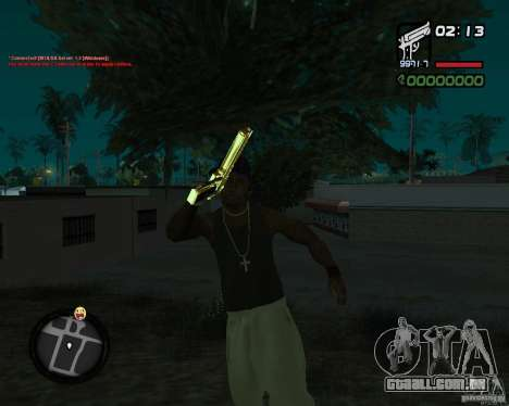 Desert Eagle GOLD para GTA San Andreas terceira tela