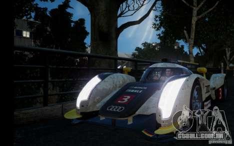 Audi R18 TDI 2011 para GTA 4 traseira esquerda vista