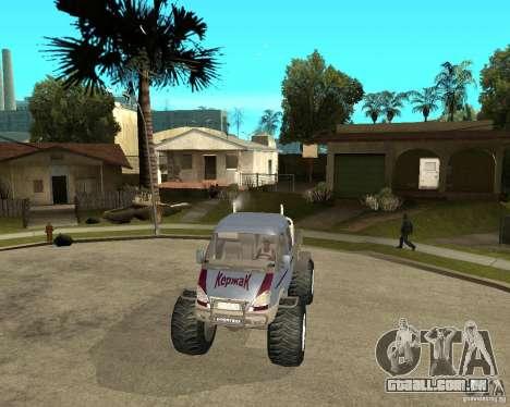 GÁS KeržaK (Swamp Buggy) para GTA San Andreas vista traseira