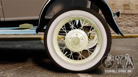 Ford Model T 1927 para GTA 4 vista direita