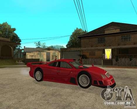 Mercedes-Benz CLK GTR road version para GTA San Andreas vista direita