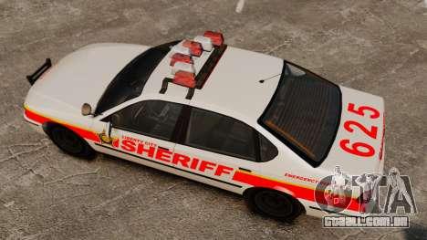 Nova patrulha da polícia para GTA 4 vista direita