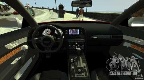 Audi RS6 Avant 2010 Carbon Edition para GTA 4 vista direita