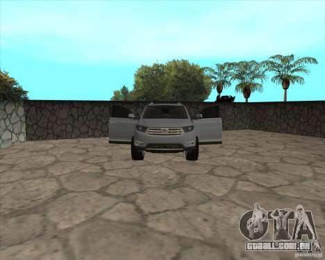Toyota Highlander para GTA San Andreas vista superior
