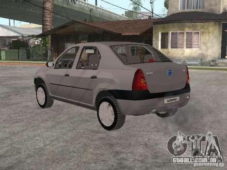 Dacia Logan 1.6 para GTA San Andreas vista direita