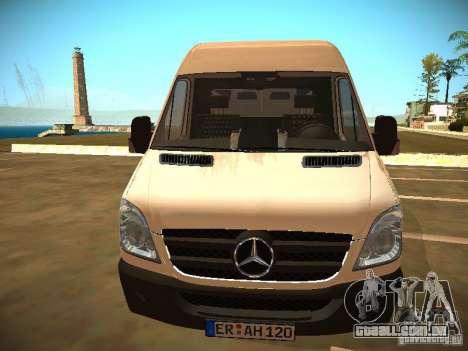 Mercedes Benz Sprinter 311 CDi para GTA San Andreas vista direita
