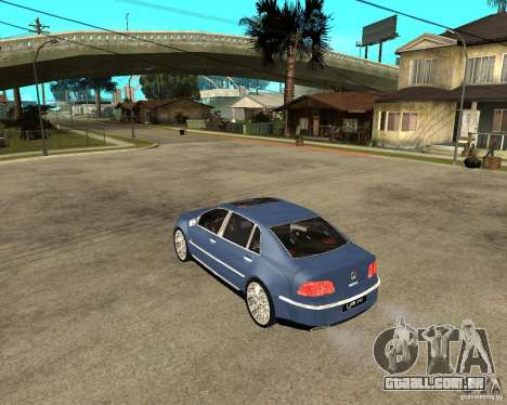 Volkswagen Phaeton para GTA San Andreas esquerda vista