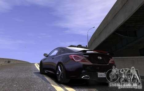 Hyundai Genesis Coupe 2013 para GTA 4 esquerda vista