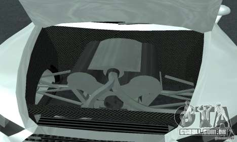 Audi Quattro Concept 2013 para GTA San Andreas vista interior