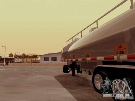 Reboque Kenworth T2000 para GTA San Andreas vista direita