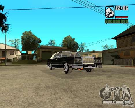 Lincoln Town Car 1986 para GTA San Andreas vista traseira