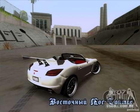Saturn Sky Roadster para GTA San Andreas vista inferior