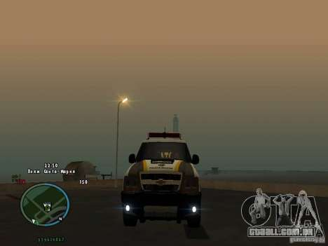 Chevrolet Blazer para GTA San Andreas vista traseira