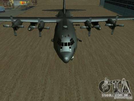 AC-130 Spooky II para GTA San Andreas vista direita
