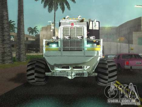 Kenworth W900 Monster para GTA San Andreas vista interior