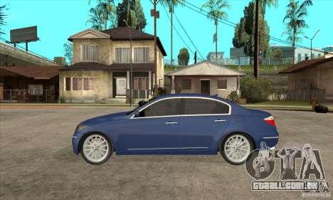 Hyundai Genesis para GTA San Andreas vista traseira