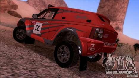 Range Rover Bowler Nemesis para GTA San Andreas esquerda vista