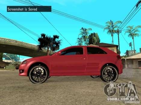 Audi S3 2006 Juiced 2 para GTA San Andreas esquerda vista