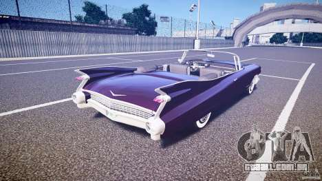 Cadillac Eldorado 1959 interior black para GTA 4 vista superior
