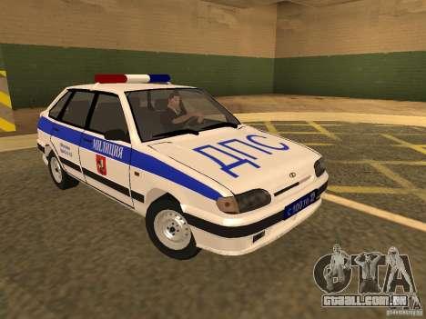 ВАЗ 2114 polícia para GTA San Andreas