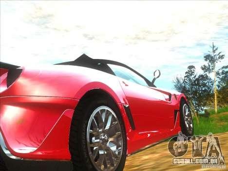 Ferrari 599XX para GTA San Andreas vista direita