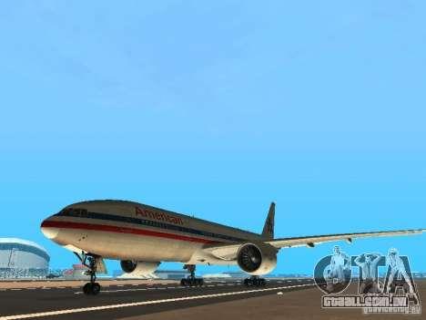 Boeing 777-200 American Airlines para GTA San Andreas