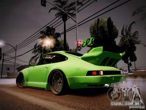 Porsche 911 Turbo RWB Pandora One para GTA San Andreas traseira esquerda vista