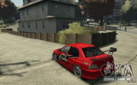 Mitsubishi Lancer para GTA 4 traseira esquerda vista