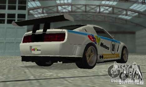 Ford Mustang GT-R para GTA San Andreas vista interior
