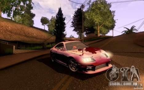 Toyota Supra Top Secret para GTA San Andreas vista interior