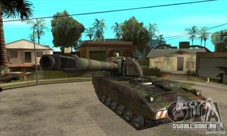 Panzerhaubitze 2000 para GTA San Andreas vista traseira