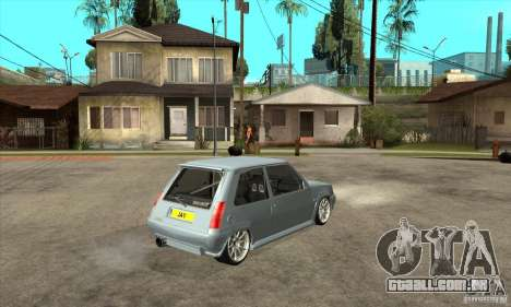 Renault 5 Tuned para GTA San Andreas vista direita