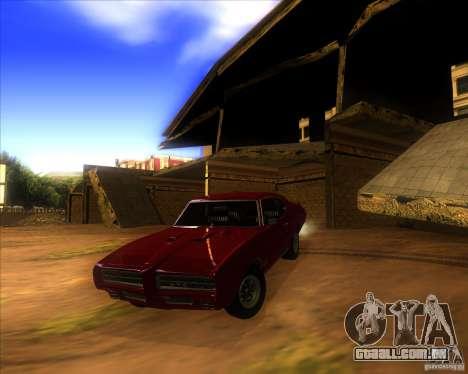 Pontiac GTO 1969 para GTA San Andreas vista superior