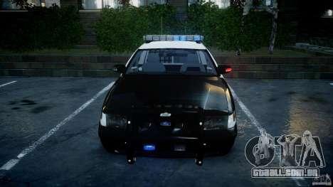 Ford Crown Victoria SFPD K9 Unit [ELS] para GTA 4 vista inferior