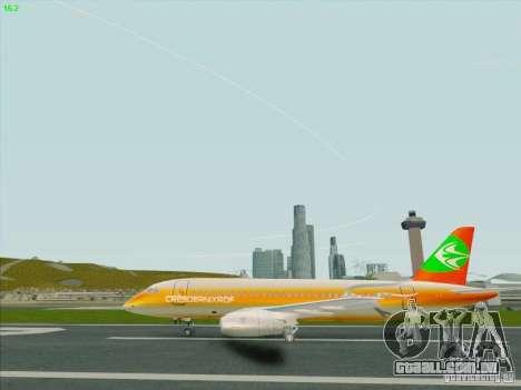 Sukhoi Superjet-100 para GTA San Andreas vista traseira