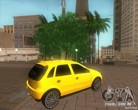 Opel Corsa C 2004 Deutsch style para GTA San Andreas esquerda vista