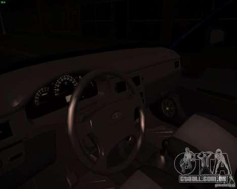 VAZ-2172 Restajl para GTA San Andreas vista interior