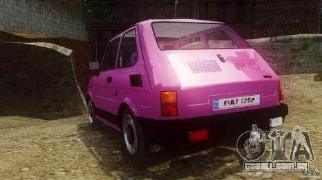 Fiat 126p FL Polski 1994 Wheels 1 para GTA 4 traseira esquerda vista
