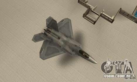 F-22 Grey para GTA San Andreas