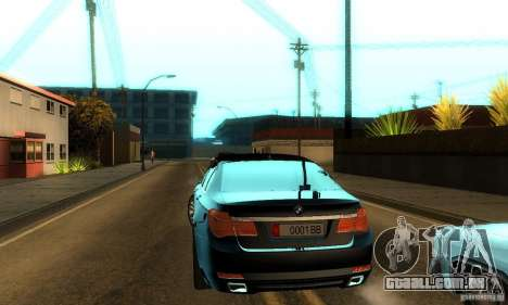 BMW 750Li para vista lateral GTA San Andreas