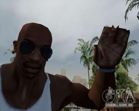 Óculos azuis aviador para GTA San Andreas terceira tela