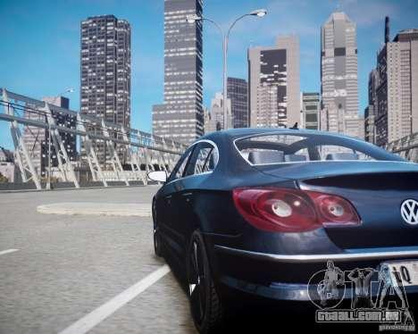 Volkswagen Passat CC para GTA 4 vista interior