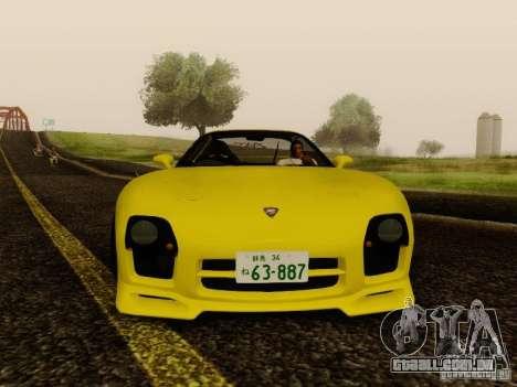 Mazda FD3S - Mazdaspeed A-Spec para GTA San Andreas traseira esquerda vista