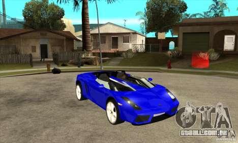 Lamborghini Concept S para vista lateral GTA San Andreas