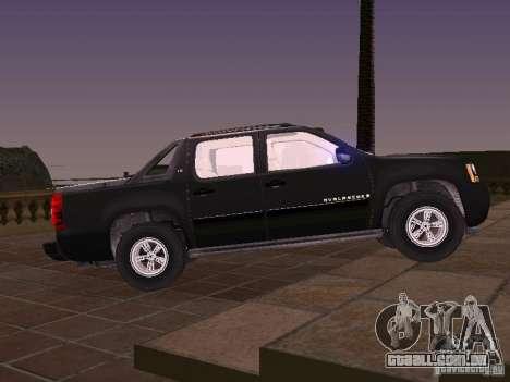 Chevrolet Avalanche para GTA San Andreas esquerda vista