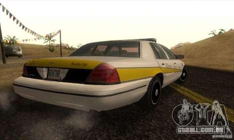 Ford Crown Victoria Illinois Police para GTA San Andreas esquerda vista
